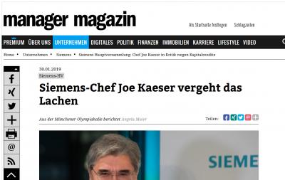 Siemens-Chef Joe Kaeser heißt Josef