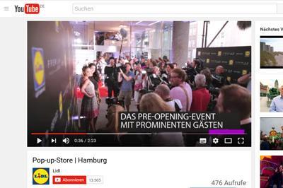 Pop-up-Store von Lidl in Hamburger Premium-Viertel